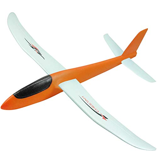 XGao Toy Airplanes for 3-14 Year Olds Manual Throwing Model Large Plane Flying Birthday Party Favors DIY Coating EPP Hand Launch Gift to Years Christmas Halloween Fun (Orange)