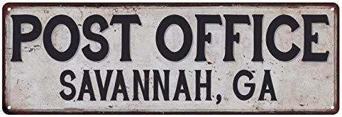 Chico Creek Signs Savannah, Ga Post Office Personalized Metal Sign Vintage 8 x 24 Matte Finish Metal 108240011170