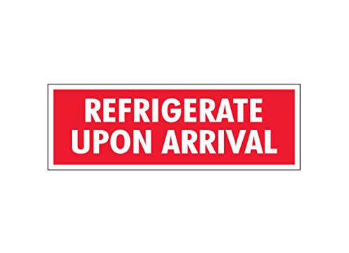 5 Width 5 Length Pack of 500 RetailSource SCL237x1 1 1//2 x 4 -Refrigerate Upon Arrival Labels 1.75 Height