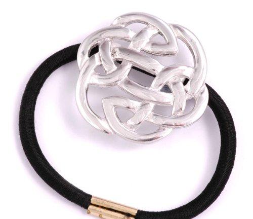 Celtic Kells Knot (St Justin, Pewter Lugh's Knot Pony-Tail)