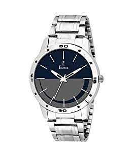 Espire Watches Analogue Black Dial Mens Latest Wrist Watch {EW_052}
