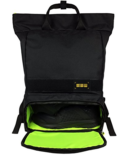 Cheap GUD Athletic Tote Sports/Gym Backpack with Separate Shoes Compartment, Black