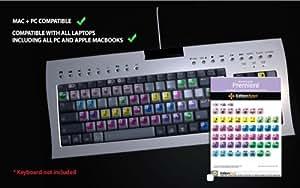 Juego de pegatinas para teclado de edición de vídeo Adobe Premiere CS1-CS4