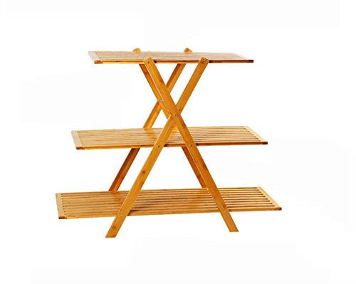 - Antiseptic Wood Flower Stand Wooden Flower Racks/Indoor and Outdoor Plant Racks/Multi-Layer Flower Pots / 3F Ladder Stairway/Floor-Type Flower Display Stand Strong Bearing Capacity