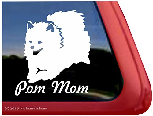 Vinyl Jumping Pomeranian Decal Sticker