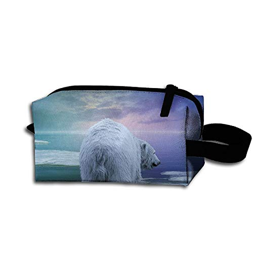 Clash Durable Zipper Wallet Makeup Handbag With Wrist Band Winter Snow Polar Bear And Penguins Toiletry Bag -