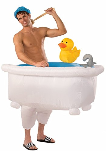 Forum 75832 Men's Good Clean Fun Inflatable Bathtub Costume, One Size, Multicolor, Pack of 1
