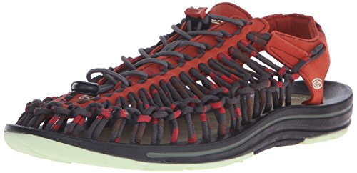 KEEN Men's Uneek Stripes Sandal, Orange Ochre/Raya, 10.5 M US