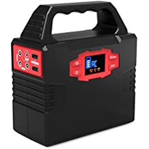 Portable Generator Power Inverter,150Wh Power Station CPAP Battery Pack Outdoor Camping Home Emergency Power Supply,Charged by Solar Panel Wall Outlet Car with Dual 110V AC Outlet, 3 DC 12V Port,2 USB