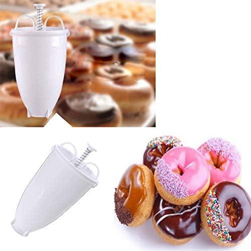 Majome Portable Doughnut Make Tool Plastic Batter Dispenser for Pancakes Doughnut Cooking Tools