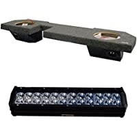 RT/OBCON Dual 10 Dodge Ram Quad Cab 2002 - 2008 Sealed Speaker Box and 13.5 CREE LED Off-Road Flood/Spot Combo Light Bar