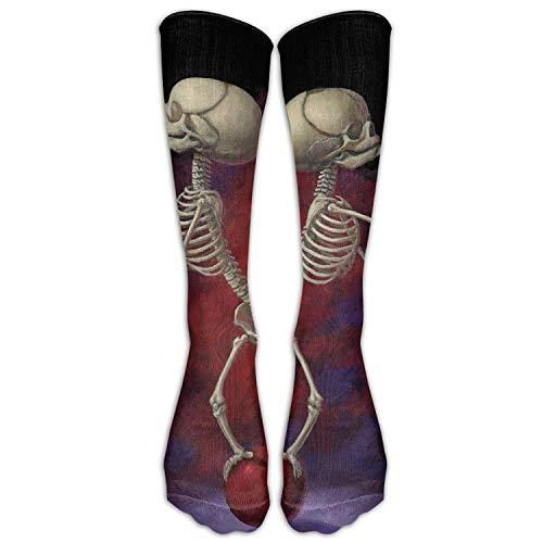 Men's Women's Funny Juggling Twins Skeleton Long Sock Athletic Calf High Crew Soccer Socks Sports]()
