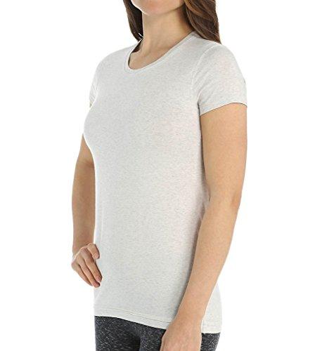 tasc Performance Women's 365 Core Moisture Wick Performance Short Sleeve Tee Shirt, Medium, Ash Heather