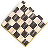MacKenzie-Childs Courtly Check Paper Napkins Gold - Cocktail – Black & White – Fancy Kitchen Paper Napkins - Triple-ply (20 per Pack)