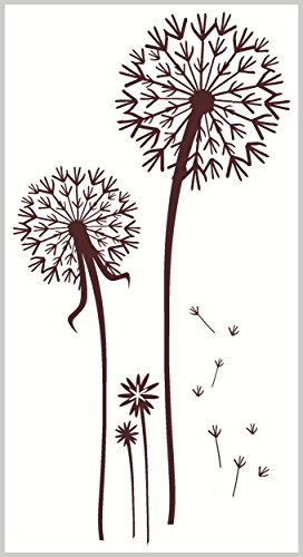 - Wall Decor Plus More WDPM027 Dandelion Bunch Wall Vinyl Sticker Die-Cut Decal, 23-InchH, Chocolate Brown