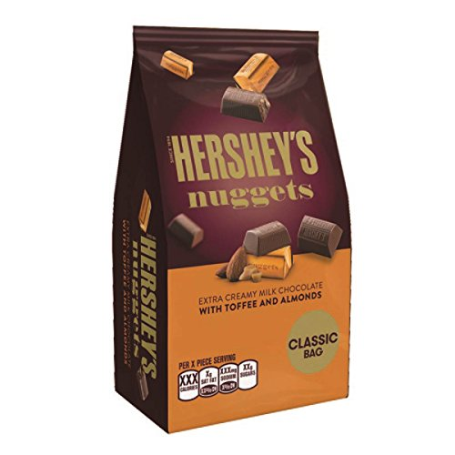 Chocolate Nuggets (Hershey's Nuggets Milk Chocolate w/ Toffee and Almonds (Pack of 2))