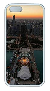 Sakuraelieechyan Scenery in Chicago Iphone 5/5S White Sides Rubber Shell TPU Case