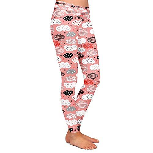 0faedf69afe4f Workout Crayon Rouge Nuages Féminine Survêtement Fit Mode Leggings ...