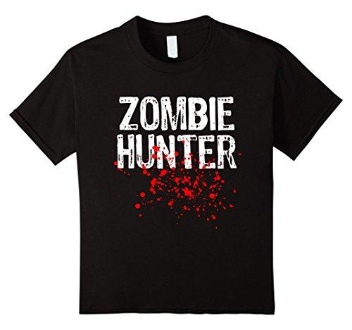 Girl Costume Hunter Halloween (Kids Zombie Hunter Halloween T-shirt 10)