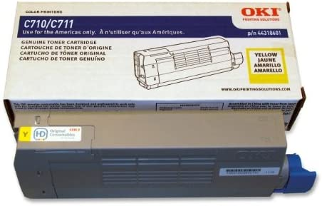 Genuine Okidata 44318601 Yellow Toner Cartridge