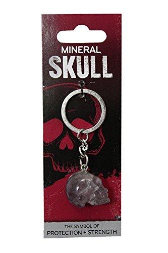 Amazon.com: Llavero de calavera de piedra mineral amatista ...