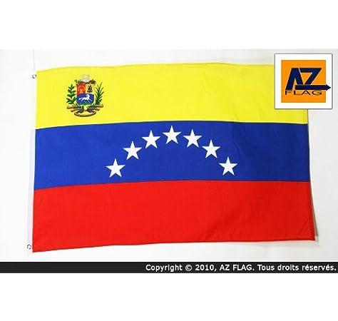 AZ FLAG Bandera de Venezuela Antigua con Escudo 150x90cm - Bandera VENEZUELANA con Armas 90 x 150 cm: Amazon.es: Jardín
