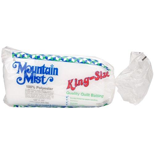 Mountain Mist Polyester Quilt Batting, King 120-inch-by-120-inch by Mountain Mist Batting