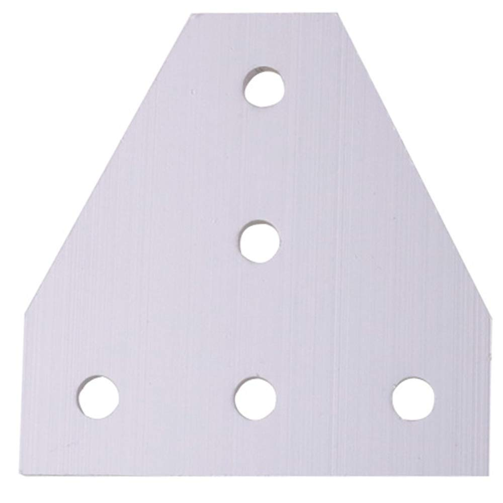 Boeray 4pcs 5-Hole 90 Degree Outside Tee Joining Plate for 2020 Series Aluminum Profile, Tee Joint Bracket Plate