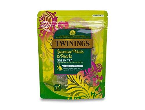 Twinings Jasmine Petals & Pearls Loose Leaf Green Tea Pyramids 12 Per (Pearl Petals)
