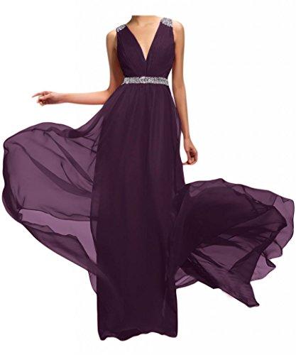 Por la noche la moda de la gasa de la Toscana de novia vestidos de dama de honor Rueckenfrei por la noche vestidos de bola de fiestas de fiesta largo Traube