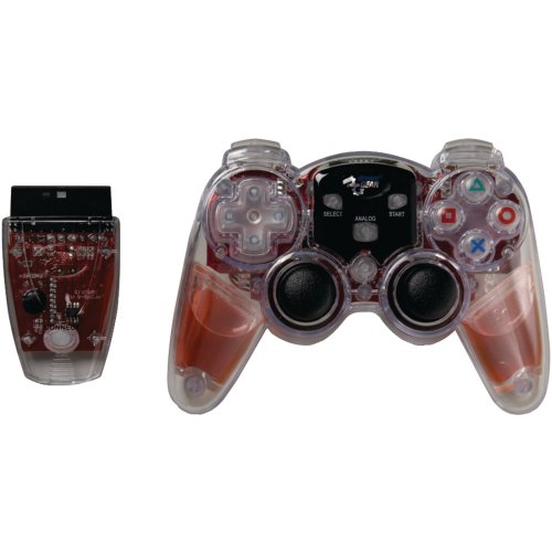 (DREAMGEAR DGPN-525 PlayStation(R)2 Lava Glow Wireless Controller (Red) electronic consumer Electronics)