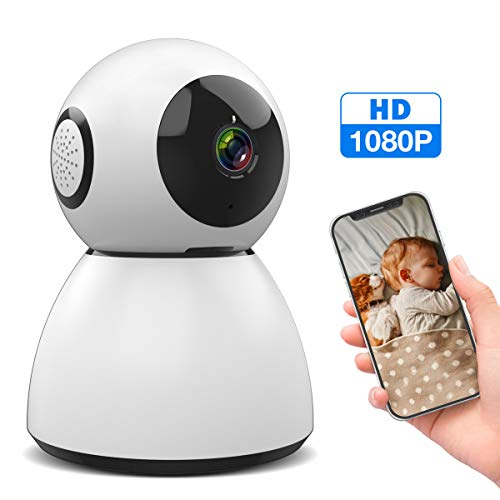 Baby Monitor, M WAY 1080P Home Security Camera IP WiFi Camera, Pan/Tilt/Zoom 2 Way Audio Motion Detection Night Vision Pet Camera, Android/iOS APP (Security Camera Ip Wifi)