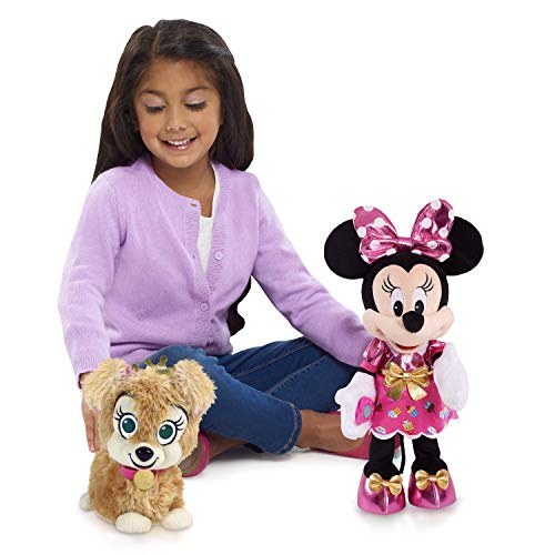 Disney Junior Minnie Mouse Party & Play Pup Feature Plush