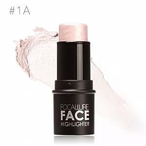 HNM Face Waterproof Shimmer Highlighter Stick Bronzers Highlighter Powder Creamy Texture Silver Gold Light Face Makeup