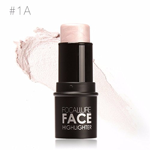[HNM Face Waterproof Shimmer Highlighter Stick Bronzers Highlighter Powder Creamy Texture Silver Gold Light Face] (Princess Anastasia Halloween Costume)