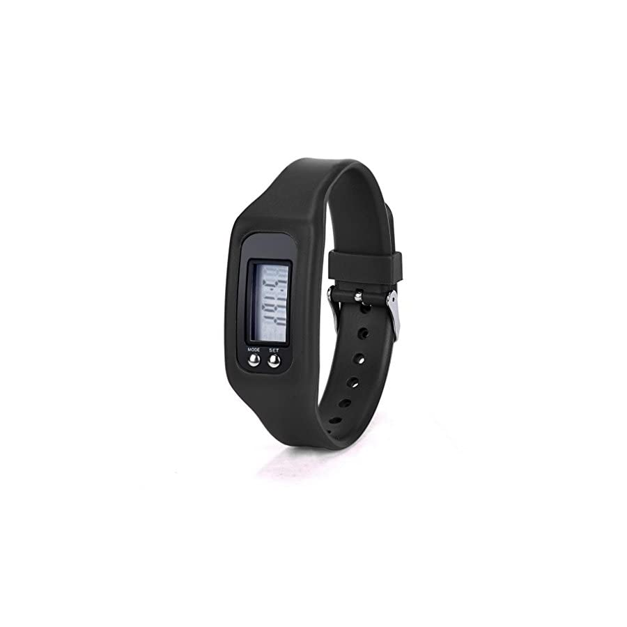 Iuhan® Fashion Digital LCD Pedometer Run Step Walking Distance Calorie Counter Watch Bracelet