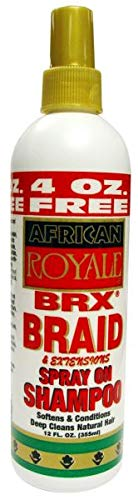 African Royale Brx Braid Spray On Shampoo, 12 Ounce