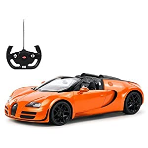 Radio Remote Control 1/14 Bugatti Veyron 16.4 Grand Sport Vitesse Licensed RC Model Car (Orange) - 41G3dyqBROL - Radio Remote Control 1/14 Bugatti Veyron 16.4 Grand Sport Vitesse Licensed RC Model Car (Orange)