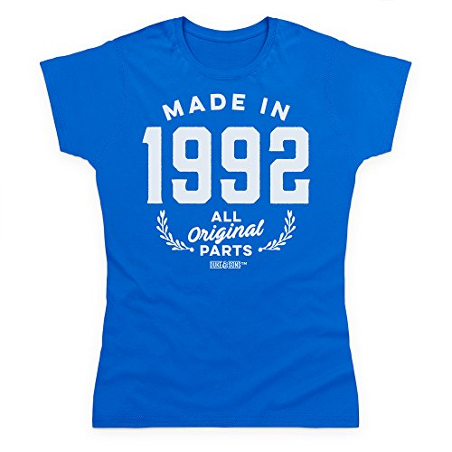 1992 Real present Camiseta Made Gift Birthday Mujer In Parts Funny Azul All Para Original Adult H6wfaq5