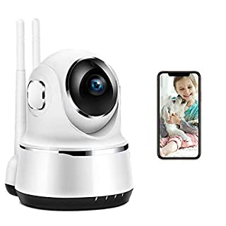 Wireless Indoor Camera Home Security System WiFi Security Camera Video Baby Monitor with Night Vision Motion Detection 2-Way Audio for Pet/Baby/Nanny