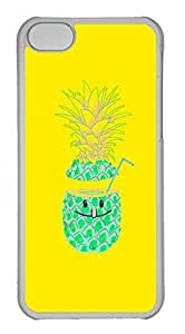 Personalized Custom Pineapple for iPhone 5C PC Transparent Case