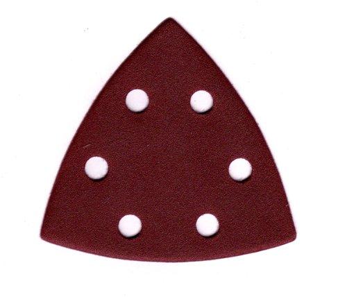 CTT - Papel de lija triangular (50 unidades, 94 x 94 mm, 6 agujeros, granulació n =80) granulación =80)