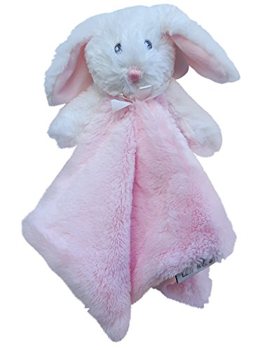 Snuggly Bunny (Blankets & Beyond Minky Bunny Security Blanket - Pink and White Solid)