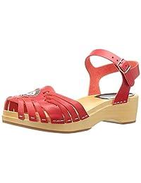 swedish hasbeens Women's Huarache Debutant Platform Sandal