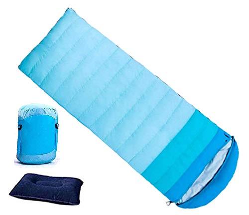 封筒型寝袋 インナーシュラフ付き ダックダウンとシンサレート綿詰め 3色切替 連結可能 圧縮ケース付き キャンプ 車中泊 自宅 防災用 極限耐寒 快眠シュラフ B07JHLG152 ブルー 2.2kg(冬用) 2.2kg(冬用)|ブルー