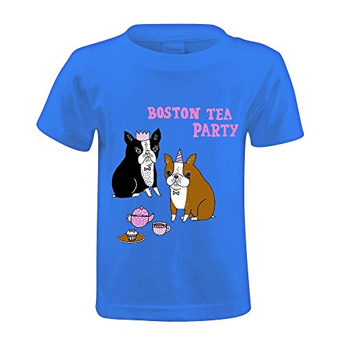 Snowl Boston Tea Party Youth Crew Neck Graphic t-shirt Blue (Party City Olaf)