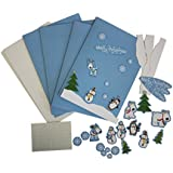 Amscan Joyful Snowman Christmas Card Making Craft Kit