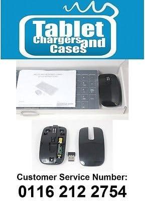 Negro delgado teclado y ratón inalámbricos Box Set para Toshiba 32l4353d Smart TV: Amazon.es: Electrónica