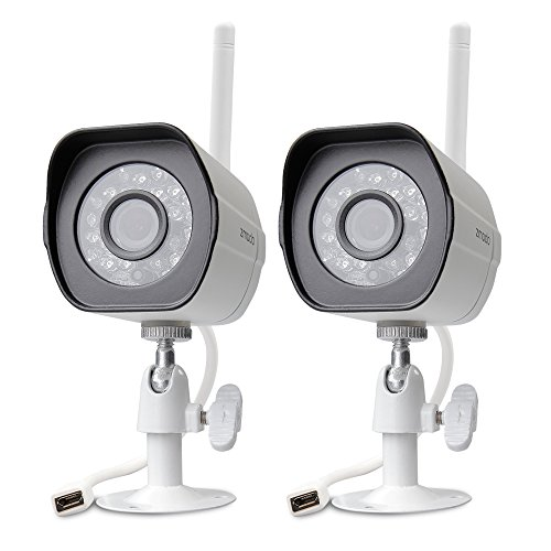 Zmodo 720p HD Outdoor Home Wifi Security Surveillance Video Cameras System (2 Pack) - Cloud Service Available