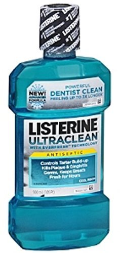 Listerine Ultraclean Antiseptic Cool Mint 500 mL (2 Pack)